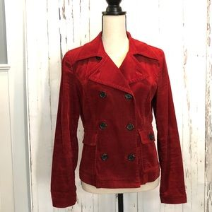 Harolds Rust Colored Corduroy Jacket - Small